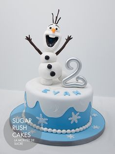 Sensational 39 Best Olaf Frozen Cake Images Frozen Cake Frozen Birthday Funny Birthday Cards Online Alyptdamsfinfo