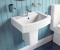 Linear Designer Semi Pedestal Wall Hung Basin - V20151062TI scene square medium