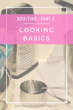 Welcome to Part 3 of my Adulting Series - cooking basics. Being an adult is hard. Cooking (for some) can be even harder. I'm thankful I seemed to inherit some amazing cooking genes - but some of us aren't so lucky. If you're one of those people who aren't cooking-inclined, then pay attention! Here is my list of cooking basics, and a few of my own cooking tricks!