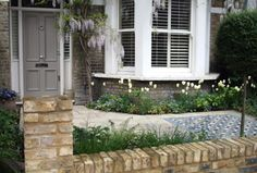 Front garden with mosaic