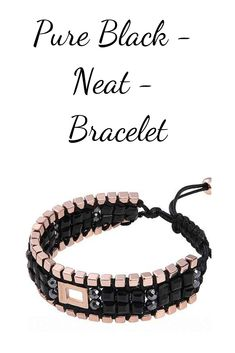 A stylish bracelet with black beads. Period, Fragrance, Delivery, Accessories, Pure Products, Free Shipping, Beads, Watch, Stylish