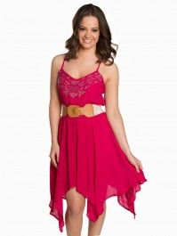 Hankie Hem Belted Dress  #vanity #fashion #womens #womensfashion #womensapparel #spring2014 #dress