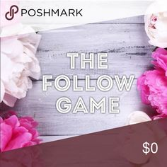👯💞 FOLLOW GAME 💞👯 Welcome to my first follow game! Like this listing and follow my closet, follow others who have liked this listing, and share to your feed and see your followers grow! 💁🏼 Other