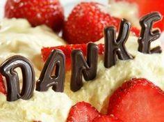 Danke auf einem Kuchen - Kostenlose Gästebuchbilder