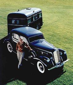 Pierce Arrow car and trailer. I think that is a beautiful Paring! Vintage Campers Trailers, Vintage Caravans, Classic Trucks, Classic Cars, Small Trailer, Camper Caravan, Vintage Rv, Cool Campers, Amazing Cars