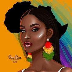 Bennie buatsie is giving us artistic and melanin filled makeup Black Love Art, Black Girl Art, My Black Is Beautiful, Black Girls, African American Art, African Art, African Drawings, Black Girl Cartoon, Black Art Pictures