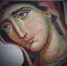 Panagia Icon from Mozaicon Bucharest, Romania