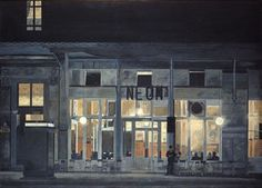 Cafe ''Neon'' at night - (Yiannis Tsaroychis)