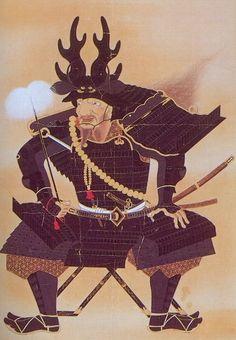 Takakatsu Honda : Honda Tadakatsu was a samurai during the 'Sengoku' or 'Warring States' period of Japan. Japanese History, Asian History, Japanese Culture, Sengoku Period, Japanese Warrior, Samurai Armor, Old Paintings, Japanese Painting, Japanese Prints