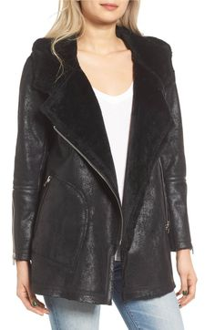 Main Image - BLANKNYC No Pain Faux Leather Jacket with Faux Fur Lining
