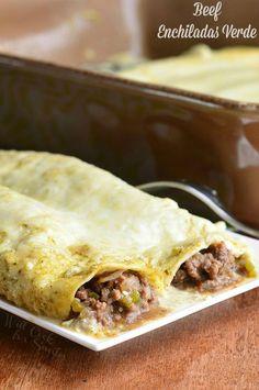 Beef Enchiladas Verd
