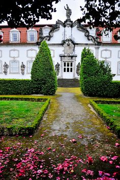 "Intermittent rain didn't stop us from exploring the historic city of Guimarães this afternoon, about northeast of Porto and ""birthplace of the Portuguese Draw On Photos, Southern Europe, The Beautiful Country, Azores, Toque, Palaces, Lisbon, Portuguese, Castles"