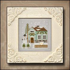COUNTRY COTTAGE NEEDLEWORKS - Frosty Forest - Snowman's Cottage