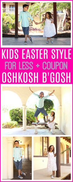 Kids Easter Style for Less + OshKosh Coupon | Kids Fashion for Boys and Girls, quality that fits your budget via @raisingwhasians