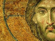 Again, maybe switching gears, and have a motif for the first half of the series focusing on the Person of Jesus (and run with one of these Mosaic based images with overlaying text on top). Then switching it up to a image of the Cross (What Jesus has come to do).   jesus-mosaic-7.jpg (500×375)