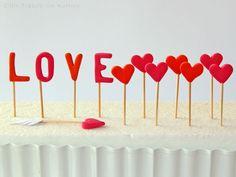 Love Herz Cupcake Muffin Topper und Tortendeko - Valentinstag Cupcake Muffin, Cupcakes, Muffins, Desserts, Food, Valentines, Heart, Amor, Meal