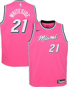 182a623f4 Nike Youth Miami Heat Hassan Whiteside Dri-FIT Earned Edition Swingman  Jersey