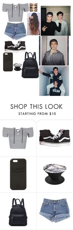 """Ethan Dolan #1"" by jasmine-the-basic-penguin ❤ liked on Polyvore featuring Dolan, Topshop, Vans, Morphe and LuMee"