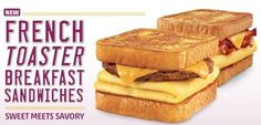 Sonic's French Toaster Breakfast Sandwich | 23 Fast-Food Items You'll Never See Again In Your Life