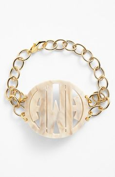 Moon and Lola 'Annabel' Large Personalized Monogram Bracelet available at #Nordstrom