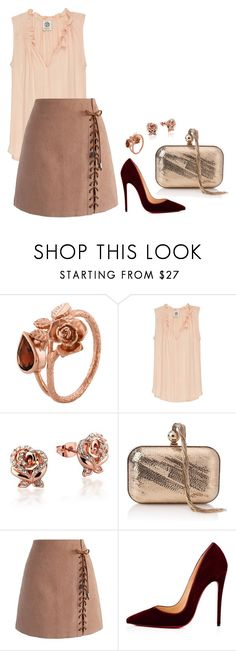 """Sem título #2489"" by mprocedi on Polyvore featuring moda, Alex Monroe, Bobeau, Disney, Jimmy Choo, Chicwish e Christian Louboutin"