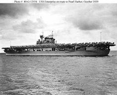 CVN-6 USS Enterprise.  The most decorated U.S. Navy ship of World War II