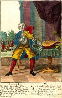 Musician - Martin Engelbrecht,1730-50