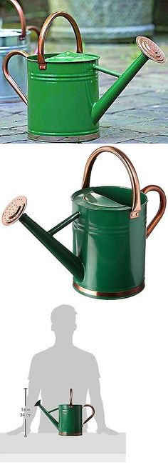 Watering Cans 20547: Gardman Green 1 Gallon Garden Galvanized Steel Watering Can Copper Accents -> BUY IT NOW ONLY: $35.37 on eBay!