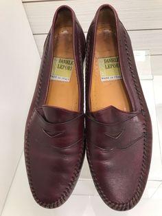 e019df43f953 Daniele Lepori Italy Men Size 10.5 M Burgundy Leather Slip On Penny Dress  Loafer  DanielleLepori