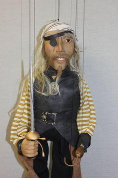 marioneta pirata títere puppet OOAK Art Doll por Etceteramarionetas, $202,00