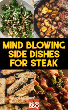Sep 2019 - From traditional side dishes you would find at any steakhouse to some lighter but equally delish creations, these recipes will elevate your steak dinner. Healthy Sides For Steak, Steak Sides, Steak Dinner Sides, Steak Side Dishes, Dinner Side Dishes, Side Dishes For Bbq, Best Side Dishes, Healthy Side Dishes, Side For Steak