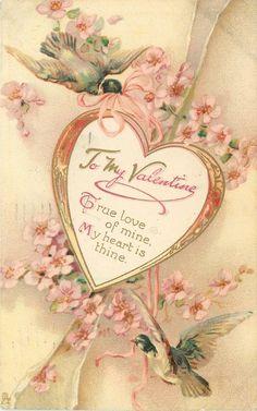Will You Please Be My Valentine! I Love You Ashlyn Nicole Howard-Bellah! Victorian Valentines, Vintage Valentine Cards, Vintage Greeting Cards, Valentine Day Cards, Vintage Postcards, Valentine Ideas, Valentine Nails, Valentines Art, My Sweet Valentine