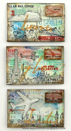 Layers of ink - Mixed Media Envelopes Tutorial by Anna-Karin