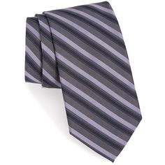 Men's Calibrate Shadow Stripe Tie ($50) ❤ liked on Polyvore featuring men's fashion, men's accessories, men's neckwear, ties, purple, mens ties, mens striped ties and mens purple ties