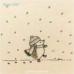 Christmas, hedgehog, snow