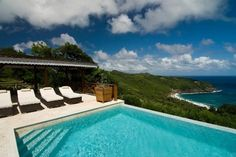 pool with a view, Bequia, The Grenadines.