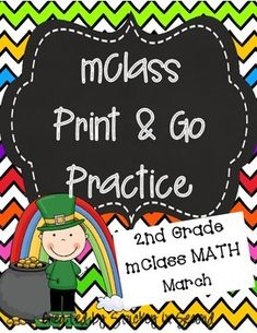 This is my March edition of mClass math practice sheets for 2nd graders. This packet includes practice for number facts, missing number, concepts, computation, and quantity discrimination. There are five sheets per skill. 25 sheets total, ready to PRINT!
