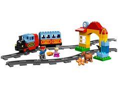 LEGO®DUPLO® Eisenbahn Starter Set sorgt für Bauspaß für kleine Baumeister. Bitte alles einsteigen!