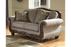 cecilyn loveseat by ashley homestore brown polyester 100 living room decor