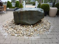 Natural #Bluestone #Boulder #Fountain with Carved Out Bowl at #Southampton #Mecox #interiordesign #MecoxGardens #furniture #shopping #home #decor #design #room #designidea #vintage #antiques #garden #Hamptons