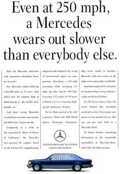 1991 Mercedes-Benz S-Class Ad