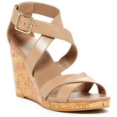 Cole Haan Jilian Wedge Sandal ❤ liked on Polyvore featuring shoes, sandals, maple sugar, open toe wedge sandals, high heel platform sandals, high heel sandals, ankle strap sandals and wedges shoes