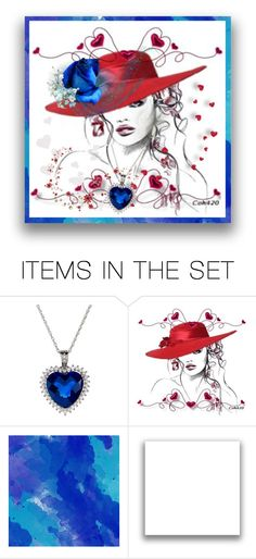 """Red White Blue"" by kari-c ❤ liked on Polyvore featuring art"