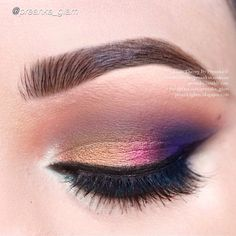 Stunning colorful look using  Motives eyeshadows in Sunkissed, Pearl, Cappuccino and Vanilla