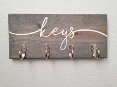 Key Holder for Wall Keys Holder Wall Keys Hook Keys Rack Keys Hanger Hooks for wall Hooks Rack Hooks for Keys Entryway Organizer Wall Key Holder, Key Holders, Diy Key Holder, Wooden Key Holder, Mail Holder, Crochet Simple, Diy Rangement, Wall Hooks, Hanger Hooks