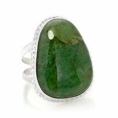 Jay King Green Californite Sterling Silver Ring