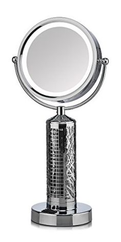 Shop the latest collection of Fanity Two Sided Magnifying Lighted Makeup Mirror Vanity Mirror Built In Two Speed Cooling Fan Air Circulator, Magnification from the most popular stores - all in one place. Similar products are available. Lighted Vanity Mirror, Makeup Mirror With Lights, Led Mirror, Vanity Mirrors, Mirrors Silver, Silver Vanity, Cheap Bathroom Vanities, Bathroom Mirrors, Bathroom Sets