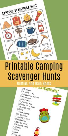 Scavenger Hunt - Printables for Two Age Groups! Get these free camping scavenger hunts for preschoolers, early readers, and older kids. via these free camping scavenger hunts for preschoolers, early readers, and older kids. Camping Scavenger Hunts, Scavenger Hunt Clues, Scavenger Hunt For Kids, Camping Activities For Kids, Camping With Kids, Family Camping, Couples Camping, Checklist Camping, Camping Essentials