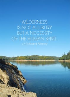 "{Blog} Rollins Lake + Edward Abbey + Happy Links // ""Wilderness is not a luxury but a necessity of the human spirit."" // Edward Abbey"