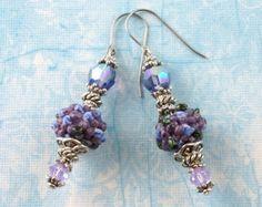 Eternity Purple & Blue Handmade Artisan Lampwork by SilverBerch